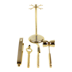 Georges Briard 4-pc Bar Tool Set with Spinning Caddy, Gold