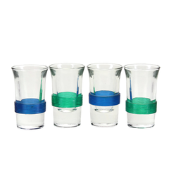 Ribbed Celluloid Shot Glasses, 1950s