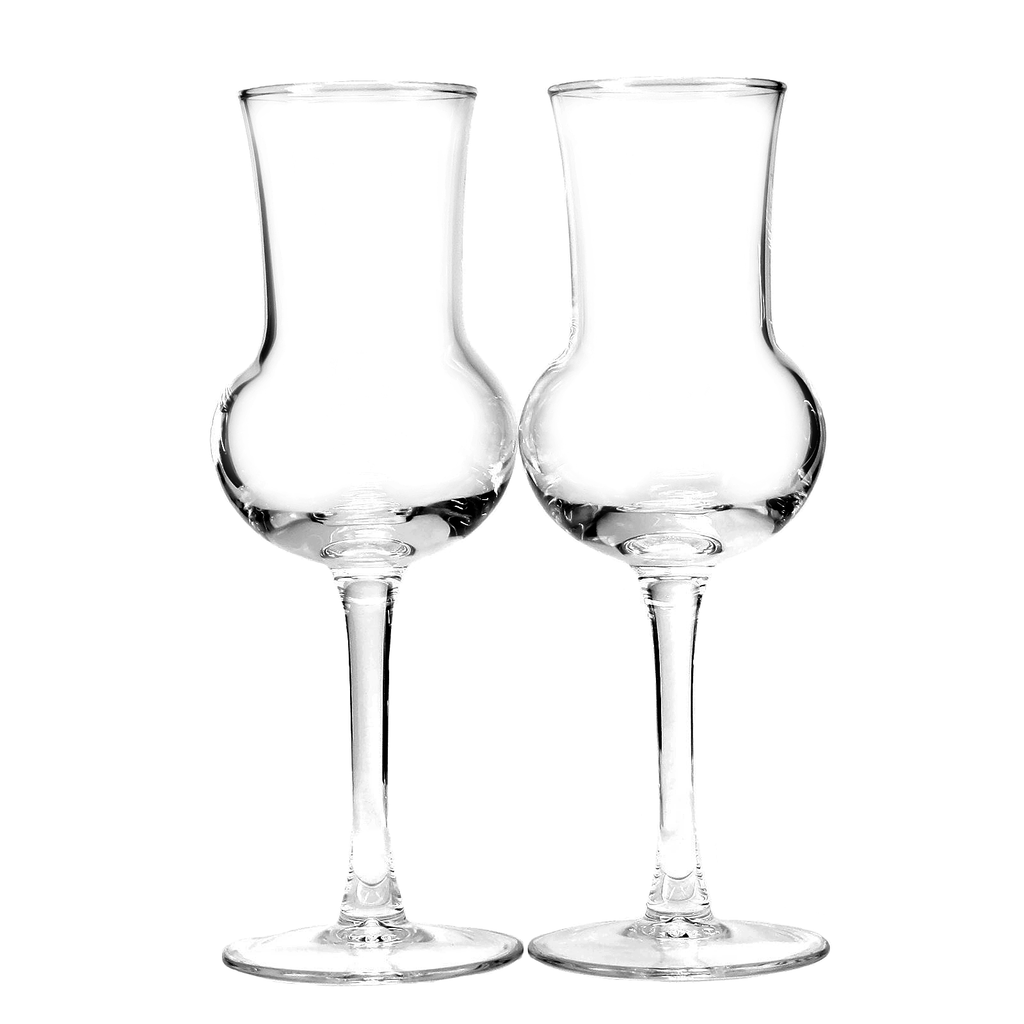 Vintage Grappa Italian liqueur glasses by ARC. Made in France.