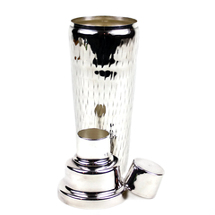 Cocktail Shaker, 1930s Art Deco, Silver Plate