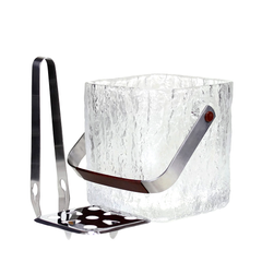 Hoya ice bucket set. Modernist barware available at Audrey Would!