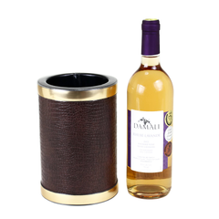 Retro Kraftware Wine Chiller Ice Bucket in Brown at Audrey Would! Vintage Home.