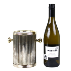 Vintage Metal Wine Chiller in Gold at Audrey Would! Vintage Home.