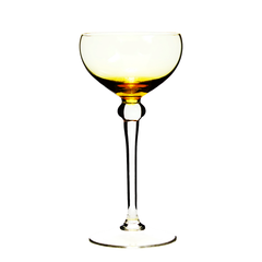 Vintage Hand Blown Italian Art Glass Coupes Stemware Set