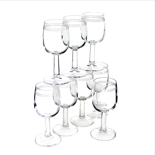 First Class Canadian Airlines Collectible Wine Glasses