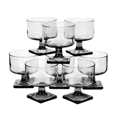 Vintage set of 8 cocktail glasses made by Federal Glass Co.