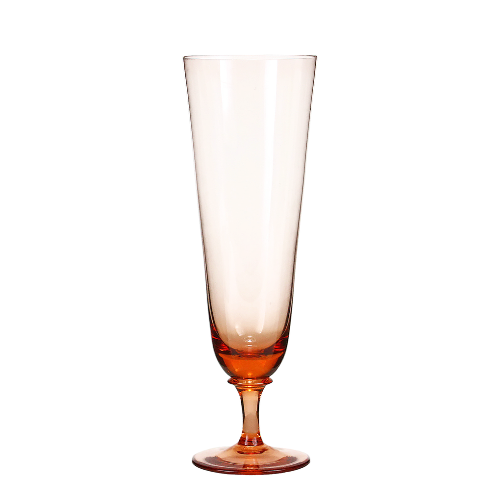 Vintage Pilsner Beer Glasses, Blush Pink.