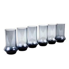 Scandinavian Bar Glasses with Flared Base. Navy Blue.