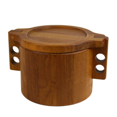 Birgit Krogh Teak Ice Bucket for Woodline. Danish Modern Barware.