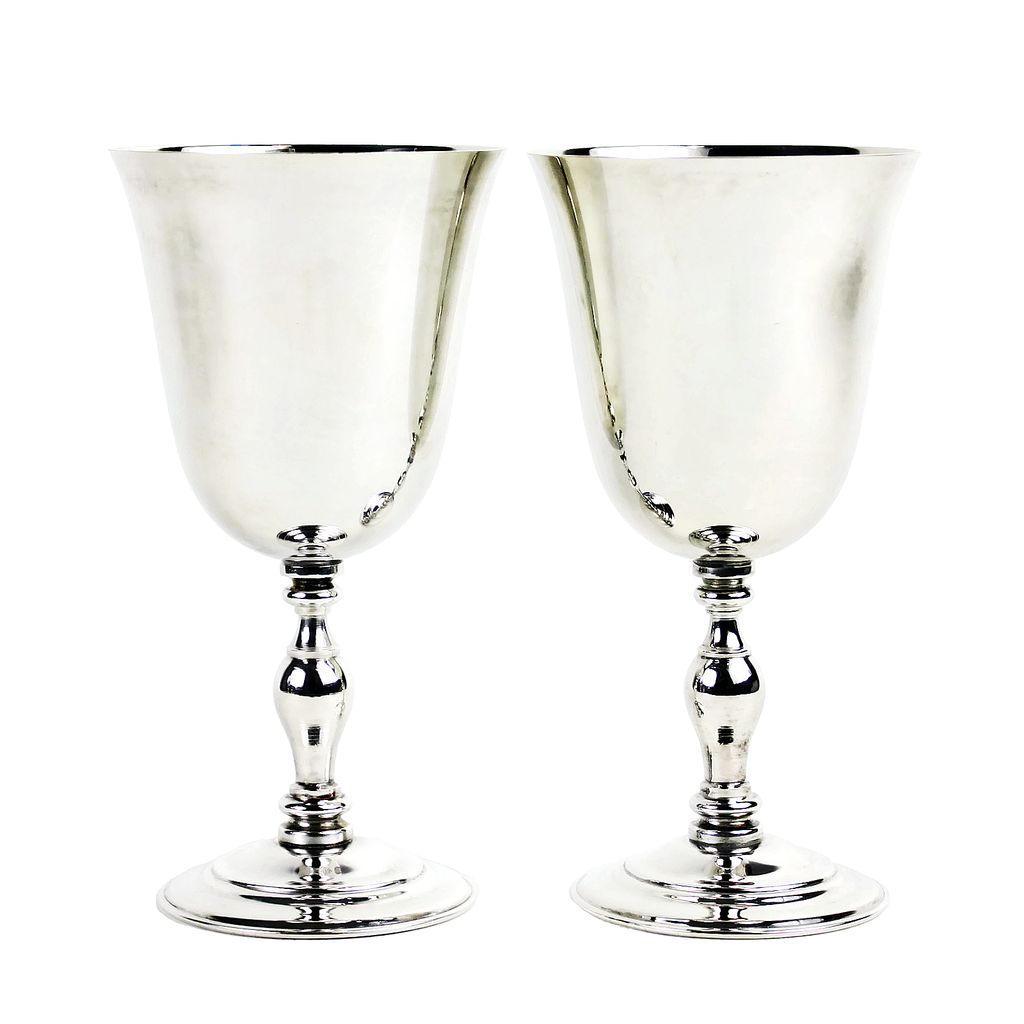 Vintage Silver Goblets, Made in Spain.