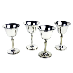 Vintage Silver Wine Goblets by House of Sheffield. Perfect for special occasions and easily engraved!