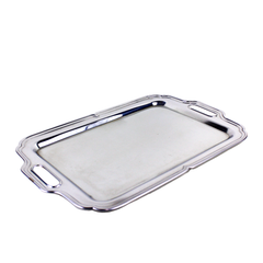 Vintage Chrome Bar Tray.