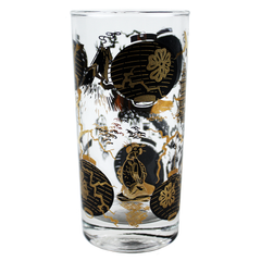 Black Gold Asian Scene Bar Glasses.