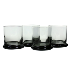 Smokey Black Whiskey Glasses by PEEDEE Mid Century Modern Barware