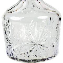 Vintage Lead Crystal Decanter. Pattern close-up.