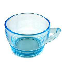 Turquoise Blue Punch Cup. Set of Ten Vintage Party Mugs.