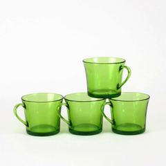 Small Coffee Cups, Duralex, Green