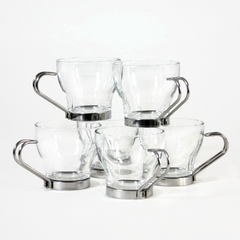 Espresso Cups by Vitrosax, Italy, Glass