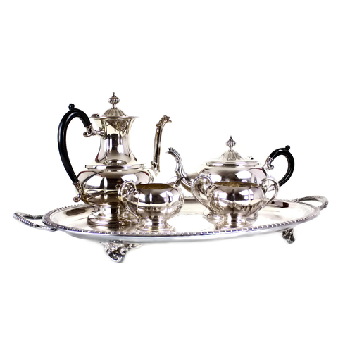 Coffee & Tea Service, Haddon Hall Silver Plate, 5-Piece