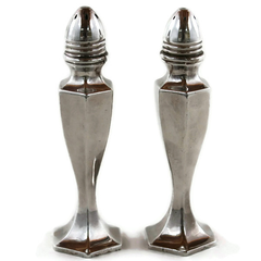Vintage Salt & Pepper Set, B.P. Co. Silver Plate, Hollywood Glam