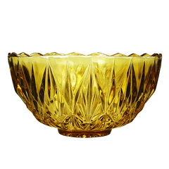 Amber and clear vintage punch bowl set available at Audrey Would!