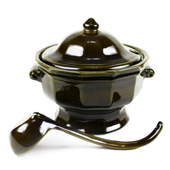 Soup Tureen, Pfaltzgraff Heritage Green, Large Soup Server