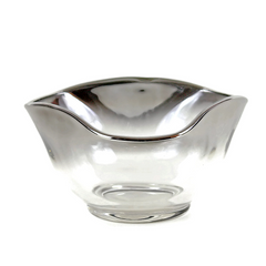Silver Ombre Dip Bowl, Amoeba Style, Mid-Century
