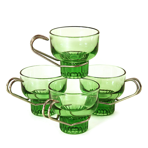 Green Glass Italian Espresso Cups – Audrey Would!