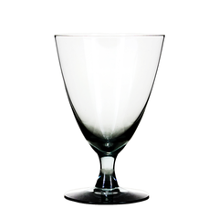 Mid century hand blown crystal goblets