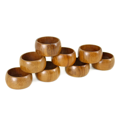 Napkin Rings, Wooden, Made for Eaton's Canada