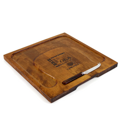 Baribocraft Cheese Board. Canadiana Vintage Cheese Tray.