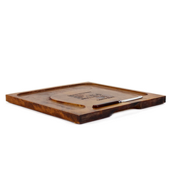 Wooden Cheese Board. Vintage Cheese Tray. Baribocraft Canada.
