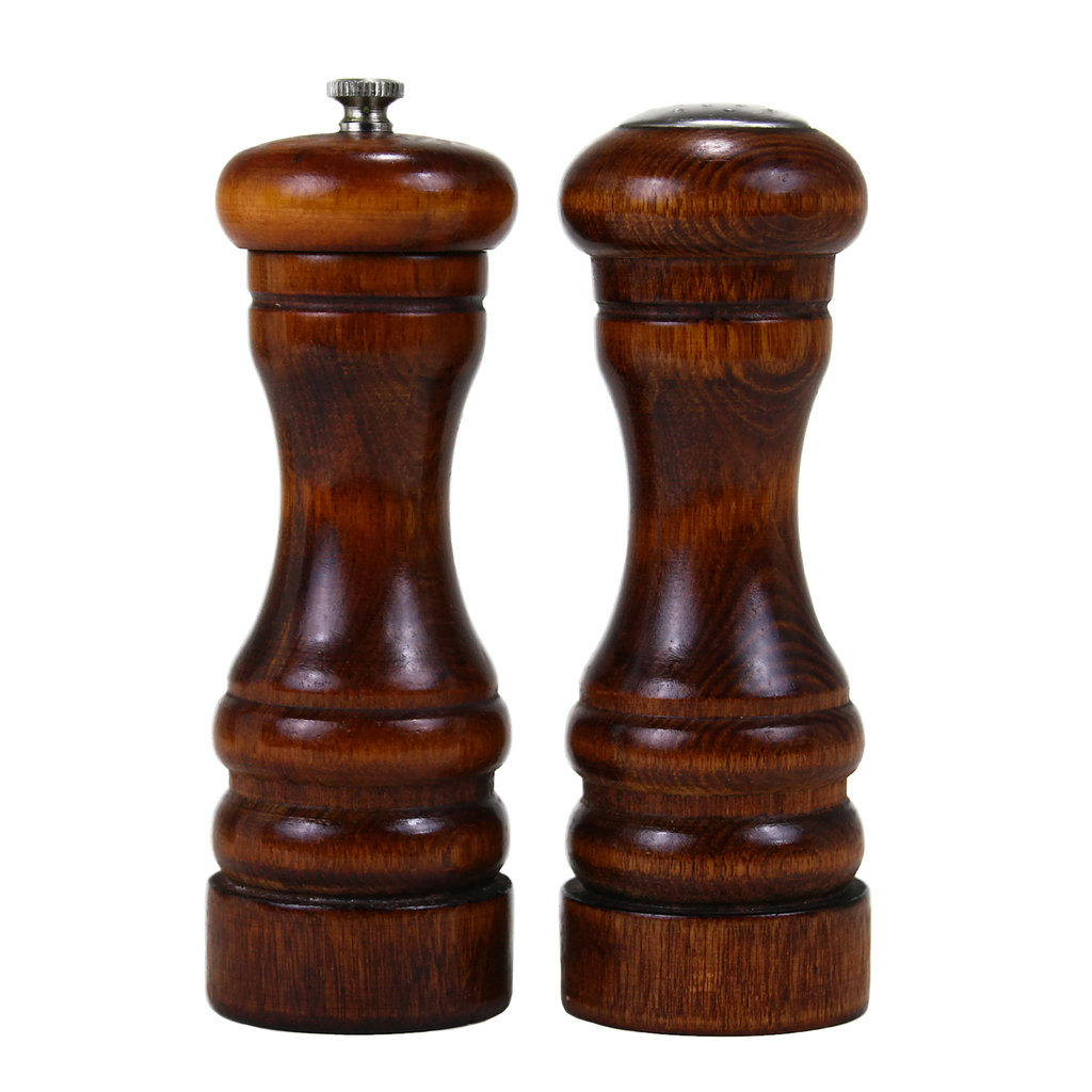Wooden Pepper Grinder and Salt Shaker, Baribocraft Canada, Vintage Salt and Pepper Set.