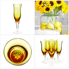 These champagne glasses are in pristine condition, and a fantastic addition to your vintage stemware collection!