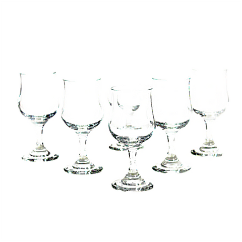 Vintage Crystal Liqueur Glasses, Czechoslovakia, Set of 6