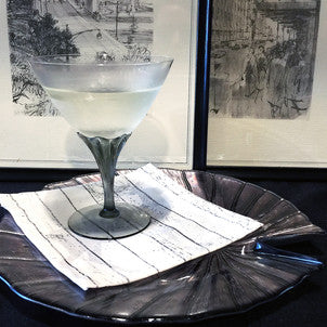 Vintage Crystal Cocktail Coupes, Smokey Stem