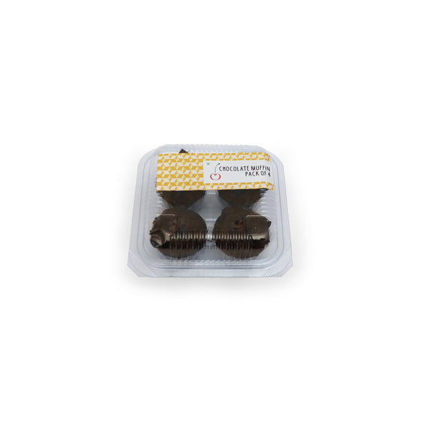 Chocolate Muffin Pack of 4 Muffin The Cherry Tree Bakery