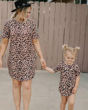 Load image into Gallery viewer, Tatum Tee Shirt Dress - Lady Leopard