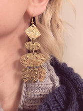 Load image into Gallery viewer, Textured Geometric Earrings
