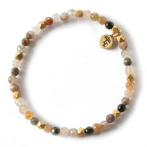 Fancy Jasper Gemstone Stretch Bracelets - 4mm