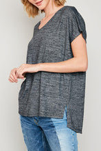 Load image into Gallery viewer, Blakely V Neck Tee with Mesh Insert