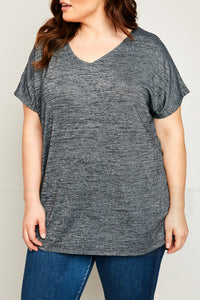 Blakely V Neck Tee with Mesh Insert