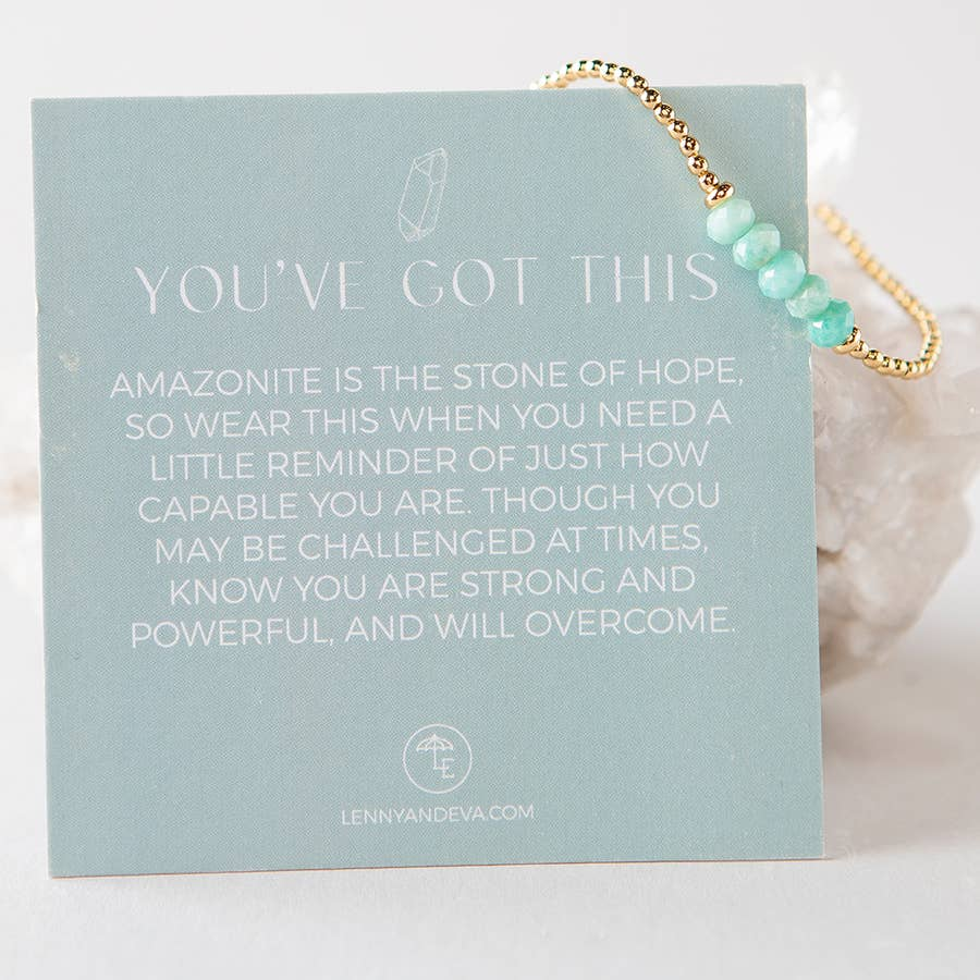 Lily Stretch Bracelet-Amazonite