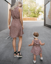 Load image into Gallery viewer, SHEERAH MOMMY & ME V-NECK DRESS - AUTUMN ACORN