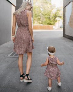 SHEERAH MOMMY & ME V-NECK DRESS - TODDLER