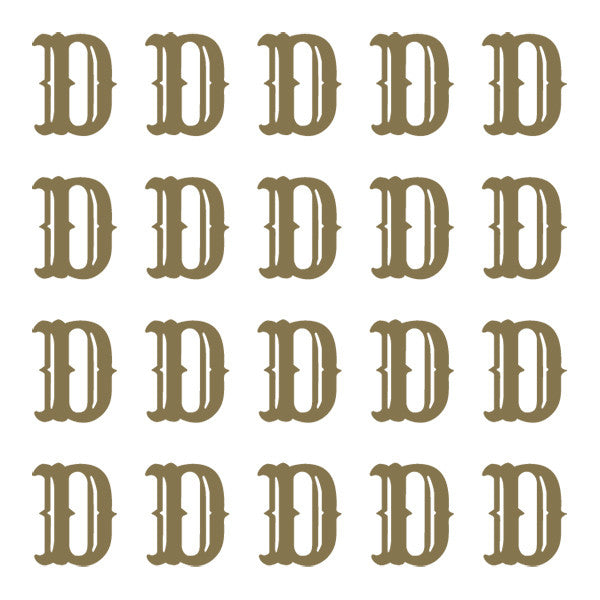 ID4 Cactus Small Gold Letter D