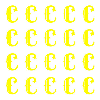 ID4 Cactus Small Neon Yellow Letter C