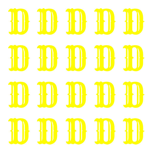 ID4 Cactus Small Neon Yellow Letter D