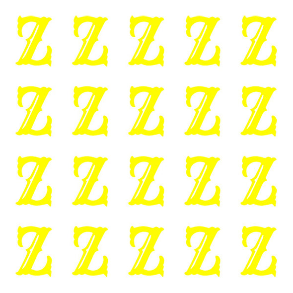 ID4 Cactus Small Neon Yellow Letter Z