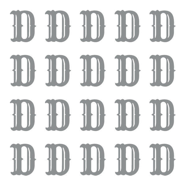 ID4 Cactus Small Silver Letter D